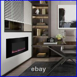 35 1400W Recessed / Wall Mount Fireplace Electric Insert Heater Multi Flames