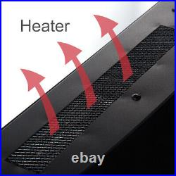 35 Camber Electric Fireplace Insert Heater Wall Mounted with Remote Control 1400W