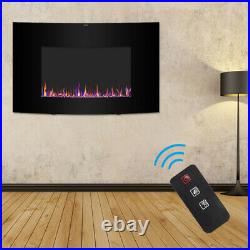 35 Embedded Electric Fireplace Insert Remote Heater Adjustable 3 Flame 1400W