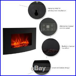 35 Wall Electric Fireplace Insert Log Flame Remote Control Warm heater US
