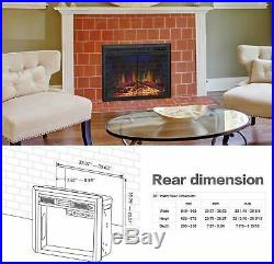 36Electric Fireplace Insert, Traditional recessed Stove Heater with timer, remote