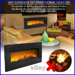 36 42 Electric Fireplace 1400W Recessed insert Wall Mount Heater Log with Remote