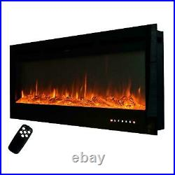 36/50 Electric Fireplace Recessed Insert OR Wall Mounted Heater Adjustable