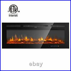 36-60 Electric Fireplace Recessed insert Wall Mounted Standing Electric Heater