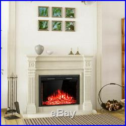 36'' 750W-1500W Fireplace Electric 5-Mode Embedded Insert Heater Stove Heater