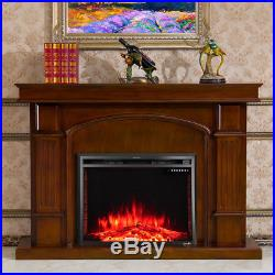36'' 750W-1500W Fireplace Heater Electric Embedded Insert Timer Flame Remote