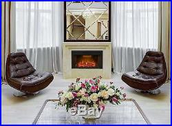36 750With1500W, Embedded Fireplace Electric Insert Heater, Fire Crackler Sound