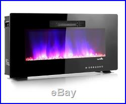36 Electric Fireplace Insert Fire Place Heater Living Room RV Recessed Best Room