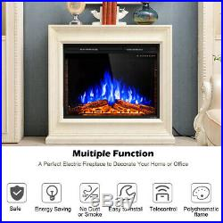 36 Electric Fireplace Insert Freestanding Stove Heater Touch 750W-1500W Remote