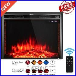 36 Electric Fireplace Insert Heater Color Change Touch Remote 750W-1500W Home