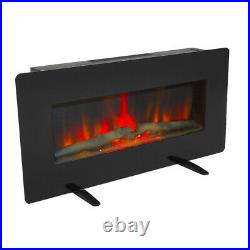 36 Electric Fireplace Insert Heater Wall Mounted with Remote Control 1400W