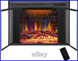 36 Electric Fireplace Insert Traditional Antiqued Build In Recessed Electric St