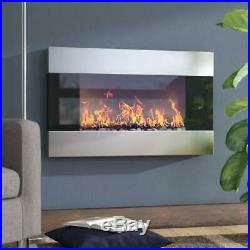 36 Electric Fireplace Insert Wall Mounted Entertainment Adjustable W Remote Best