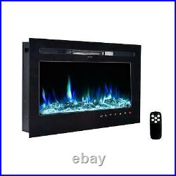 36 Electric Fireplace Recessed insert or Wall Mounted Standing Electric Heater