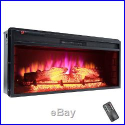 36 Freestanding Insert Electric Fireplace Timer Remote Control Logs 3D Flames