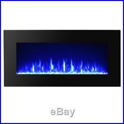 36 Inch 1500w Electric Fireplace LED Flame Insert Heater Glass View Home Decor