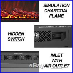 36 Insert Electric Fireplace Heater Wall Mounted with Remote Control 750With1500W