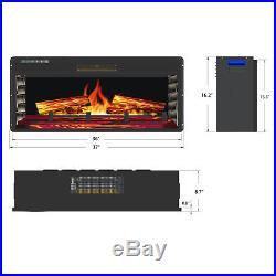 36 Insert Freestanding Electric Fireplace 3D Flames Firebox with Logs Heater
