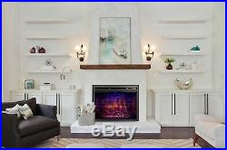 36 Recessed Electric Fireplace Insert, Traditional Electric Stove Heater 1500W