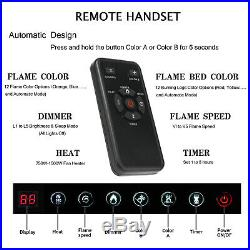 36 Ultra Thin Electric Fireplace Insert, Wall Mounted with Remote Control