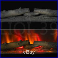 36 Wall Electric Fireplace Insert Log Flame With Remote Control Led Warm heater