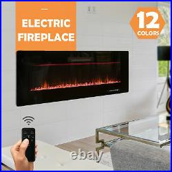 36 Wall Mounted Fireplace Recessed Insert Fireplace Heater with Remote Control