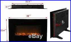 38 Large Embedded Electric Fireplace Insert Freestanding Heater withRemote