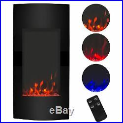 38 Vertical Wall Mount Insert 1500W Fireplace Electric Heater Remote Control