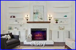 39 Electric Fireplace Insert, Traditional Antiqued Build in Recessed Stove