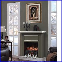 3D Electric Log Heater Infrared Set Fire Fake In Fireplace Realistic Elec Insert