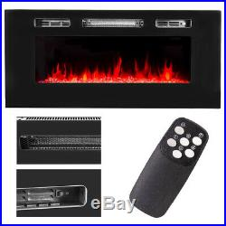 40 1500W Embedded Fireplace Electric Insert Heater Multi-Color Flames w Remote