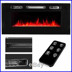 40 1500W Embedded Fireplace Electric Insert Heater Multi-Color Flames with Remote