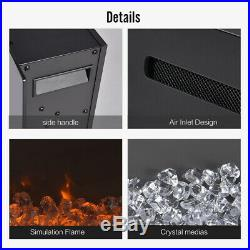 40 Electric Fireplace Recess Insert Wall Mount Touch Screen with Remote Contral