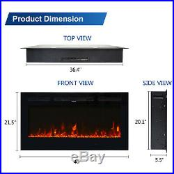 40 Electric Fireplace Wall Mounted Recessed insert Standing Electric Heater