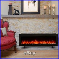 40 Insert Electric Fireplace, Wall Mount Heater, Freestanding Stand with Remote