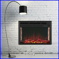 40 Wall Mounted Insert Electric Fireplace Heater with Remote Control 750With1500W