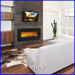 42'' Electric Fireplace Insert Electric Heater Wall Mounted with Remote 1400W