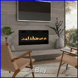 42 Electric Fireplace Insert, Wall Mounted/In Wall 3.86 Ultra Thin 750/1500W