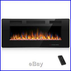 42 Ultra Thin Electric Fireplace Insert, Wall Mounted with Remote Control