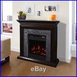 44 Electric 3d Flame Firebox Fireplace Embedded Insert Heater w cabinet