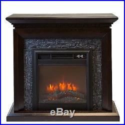 44 Electric Fireplace 1500W 3D Flame Embedded Insert Heater, with Cabinet