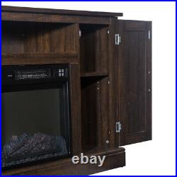47 1400W Insert Electric Fireplace TV Stand Console Cabinet with Remote Control