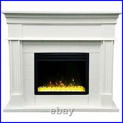 47.8-In. Shelby Electric Fireplace Mantel with Enhanced, Deep Crystal Insert