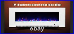 50 60 72 82 Inch Led Digital Flames Black Insert Wall Mounted Electric Fire 2021