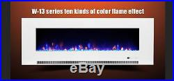 50 60 72 Inch Led'digital Flames' White Black Insert Wall Mounted Electric Fire