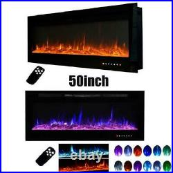 50 Electric Fireplace 50 inch Recessed Insert Wall Mount with Remote Control
