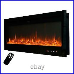 50 Electric Fireplace 50 inch Recessed Wall Mount Insert with Remote Control