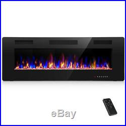 50 Electric Fireplace Insert, Wall Mounted/In Wall 3.86 Ultra Thin 750/1500W