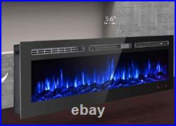 50 Electric Heater Fireplace Recessed / Wall Mounted Insert with Remote Control