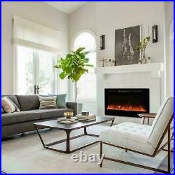 50 Electric Heater Recessed Wall Mounted Fireplace Insert withRemote Control 110V